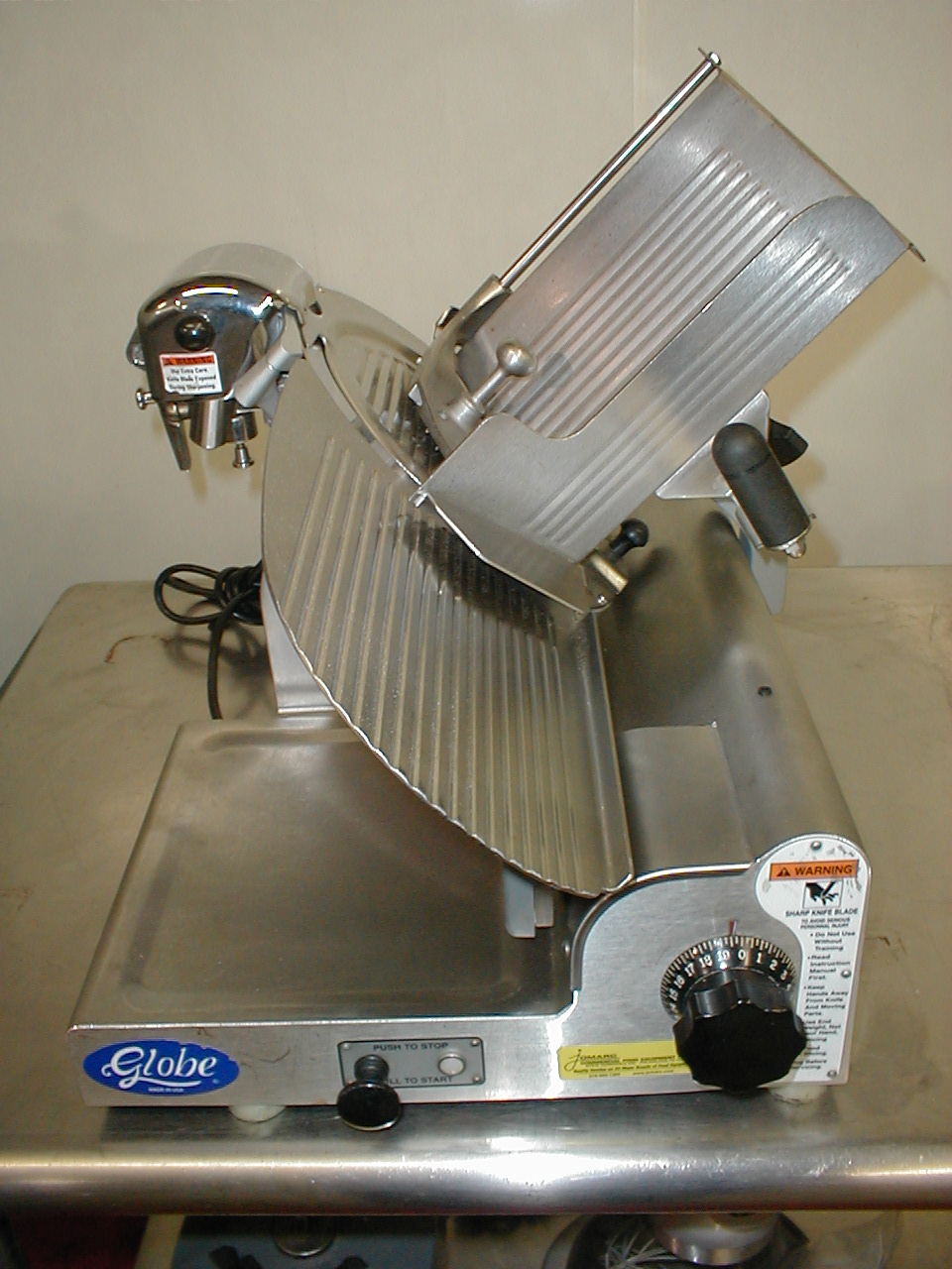 Real nice used globe slicer late model 3500 all stainless steel