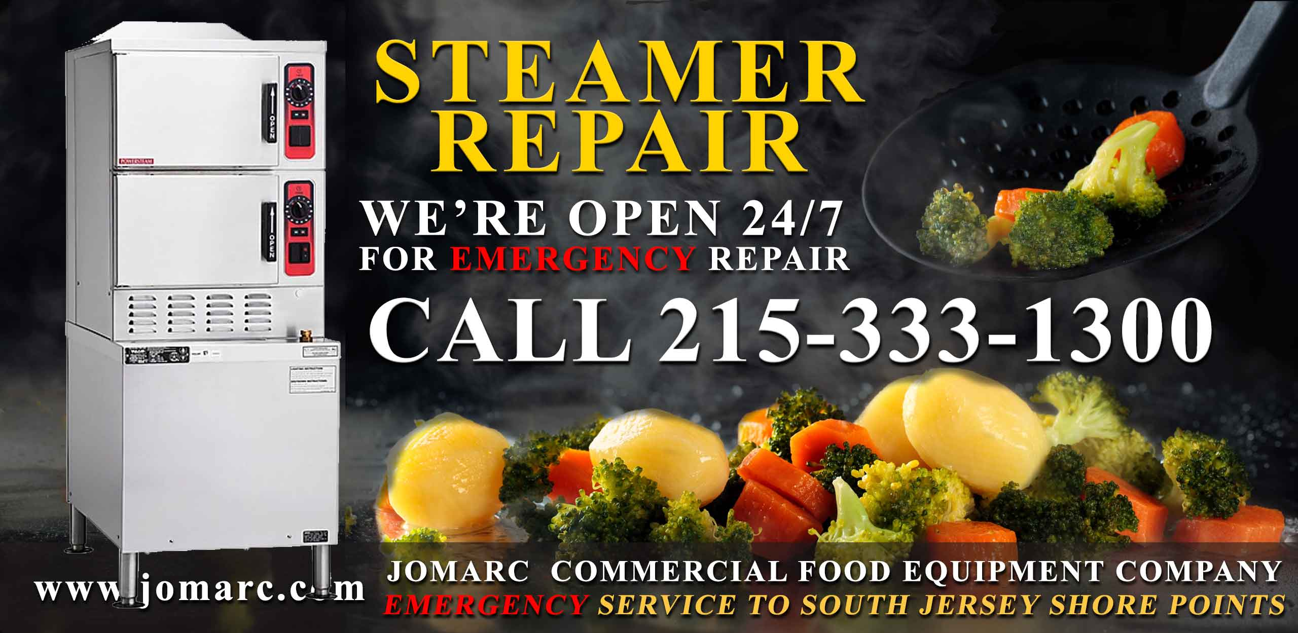 Commercial Steamer Repair New Jersey Cherry Hill Atlantic City Cape May Steam Kettles Portion Steamers Fast Steamers Microwave Steamers Steam Generators