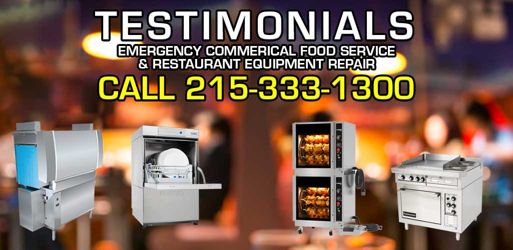 Emergency Commercial Food Service Bakery Equipment Repair for Philadelphia mixers, slicers, fryers, warmers, steamers, dishwashers, ranges, ovens